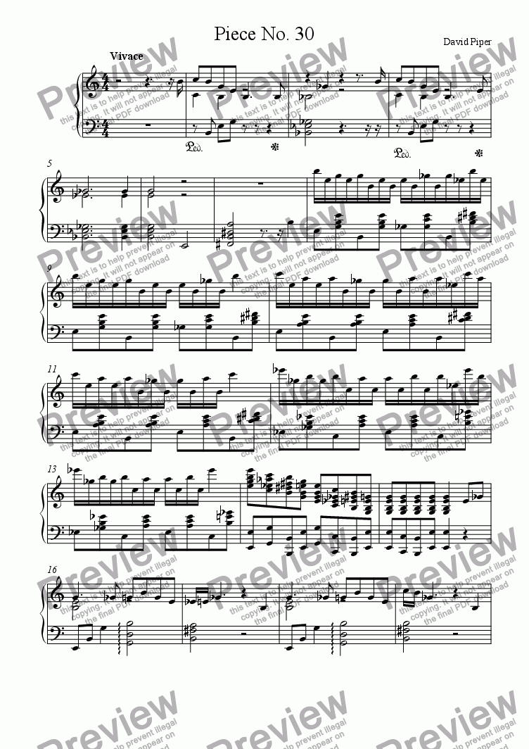 page one of Piece No. 30