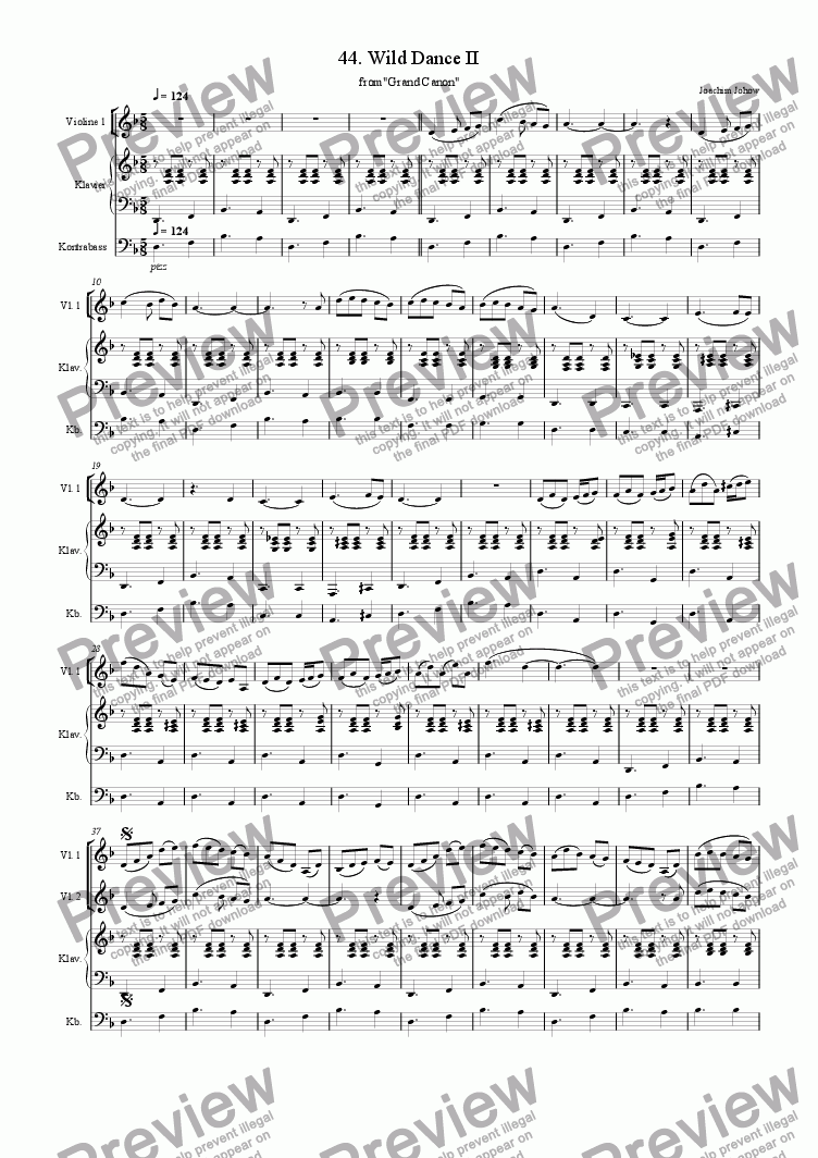 page one of Grand Canon 44 (Wild Dance 2 for 3 Vl)
