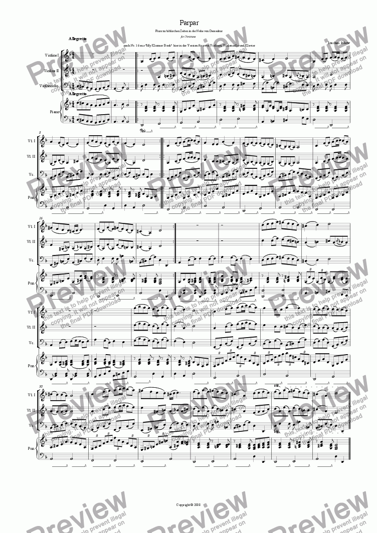 page one of Parpar Project 05 (2 Vl/Vlc/Piano)