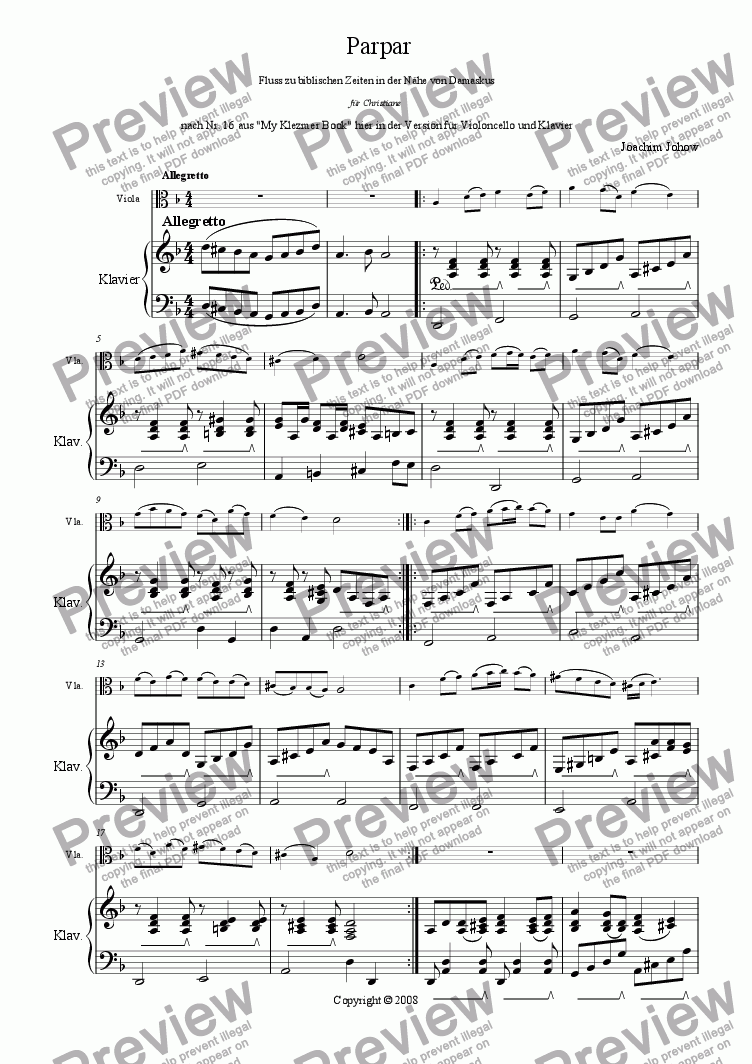 page one of Parpar Project 09 (Viola Piano)