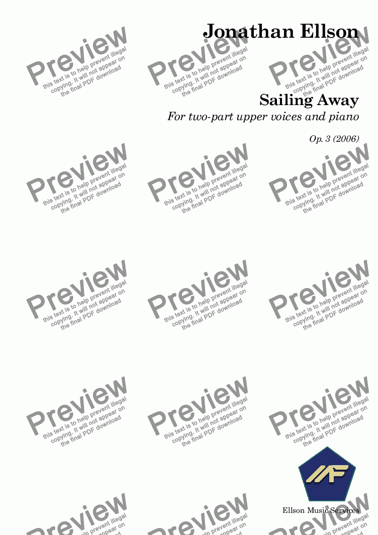 page one of Sailing Away