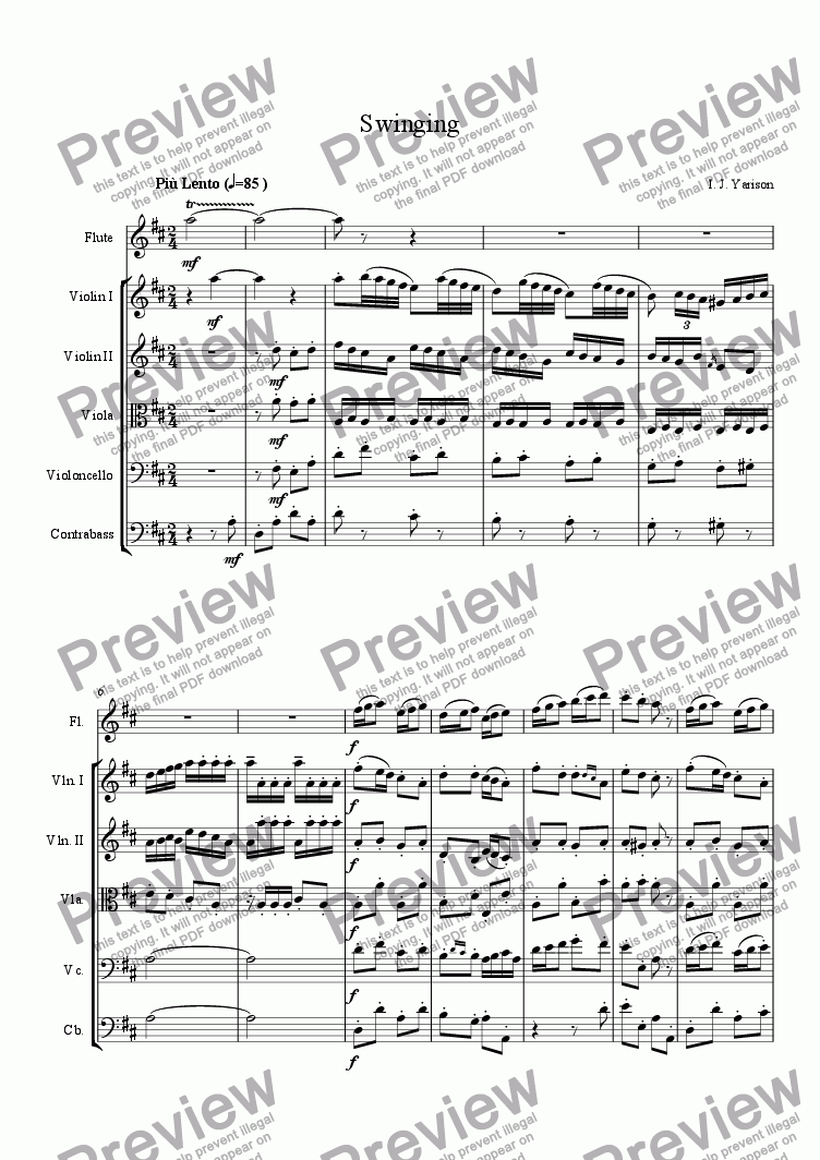 page one of Swinging