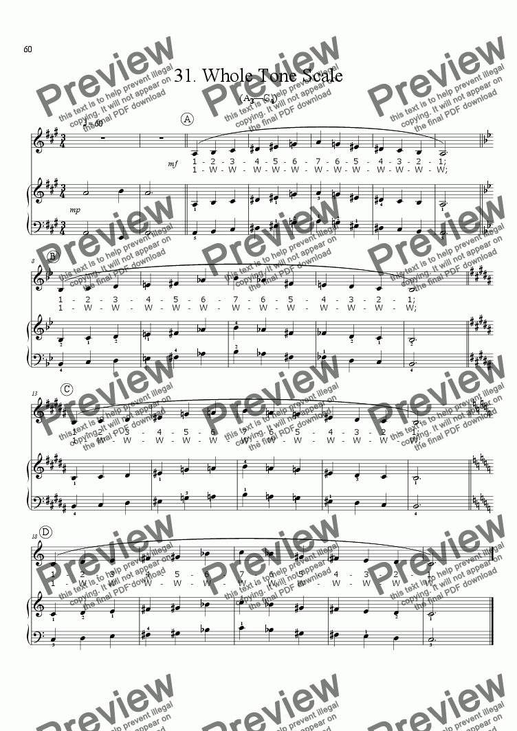 page one of Sing!�31. Whole Tone Scale [teacher]