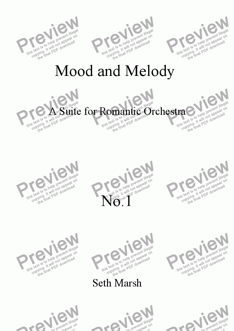 page one of Mood and Melody - No.1