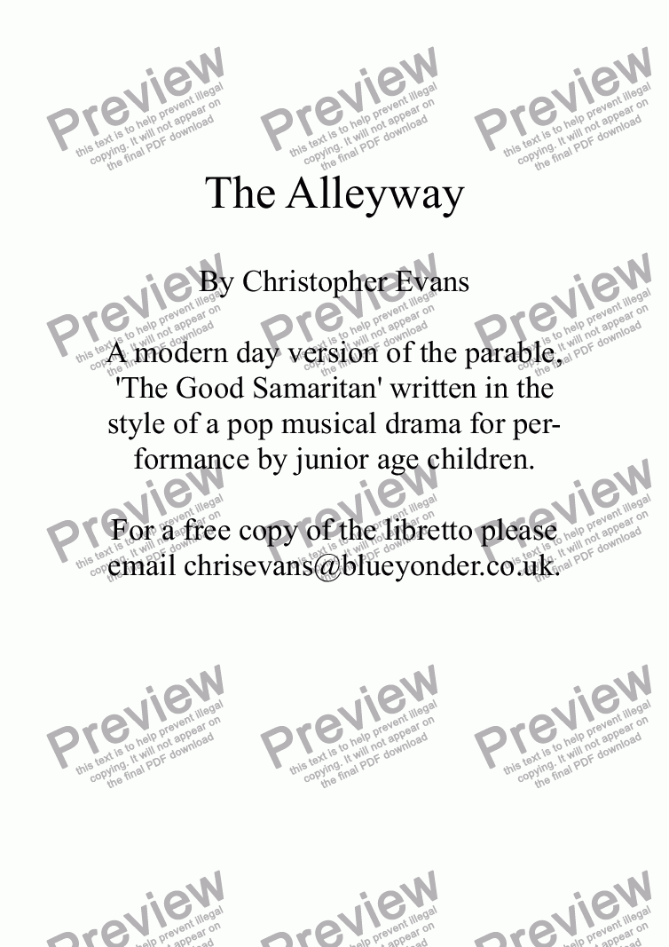 page one of The Alleyway