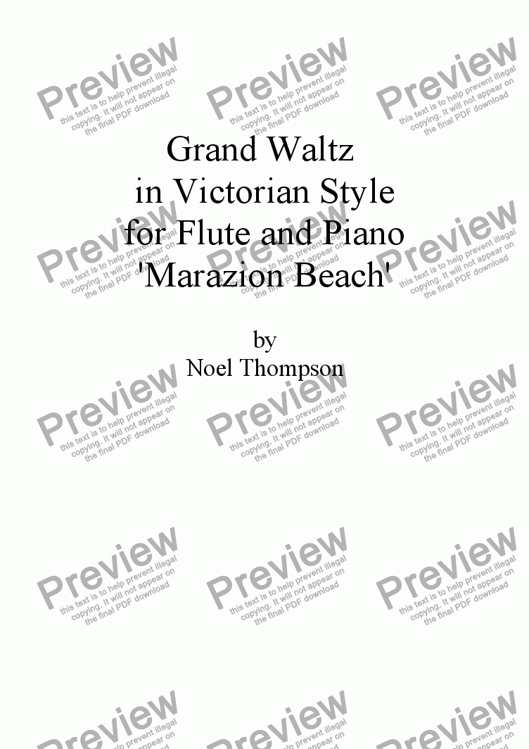 page one of Grand Waltz  - Flute and Piano