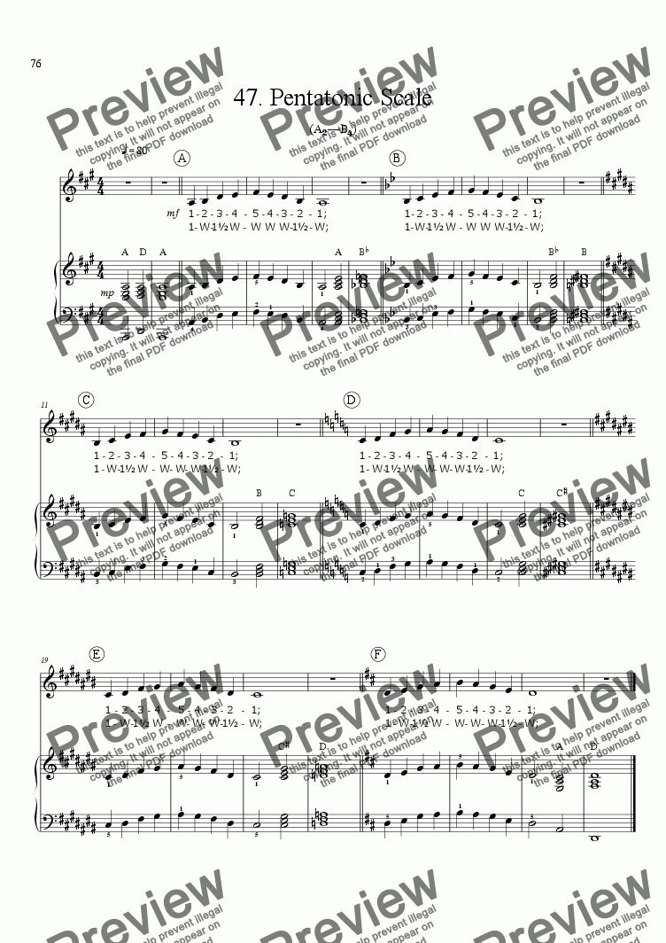 page one of Sing!�47. Pentatonic Scale [teacher]