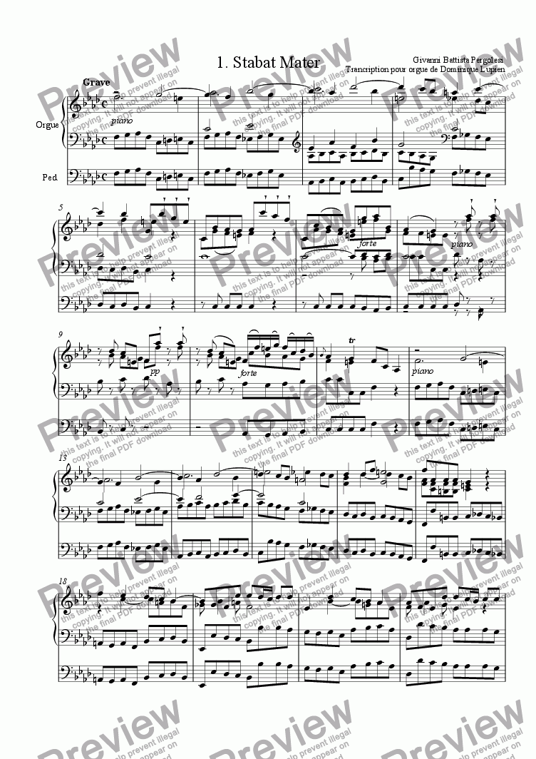 page one of Stabat Mater
