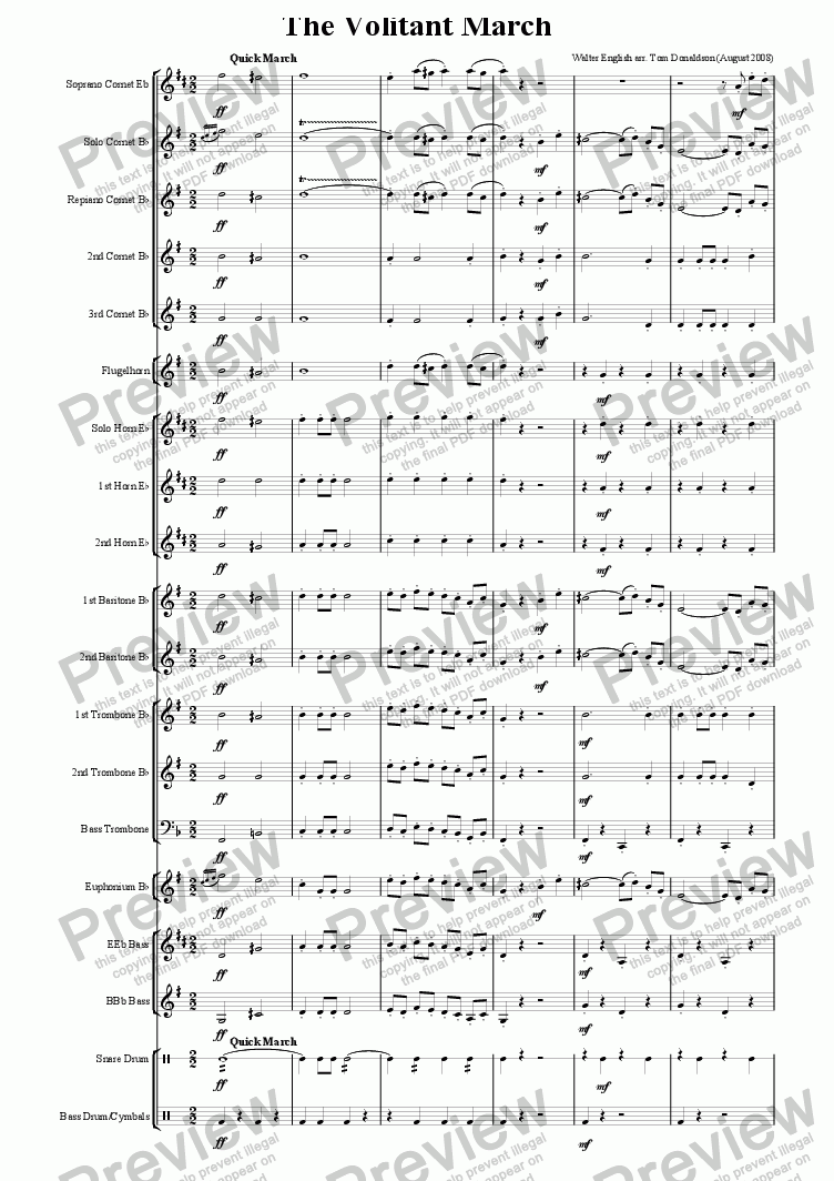 page one of BRASS BAND - Circus March - The Volitant