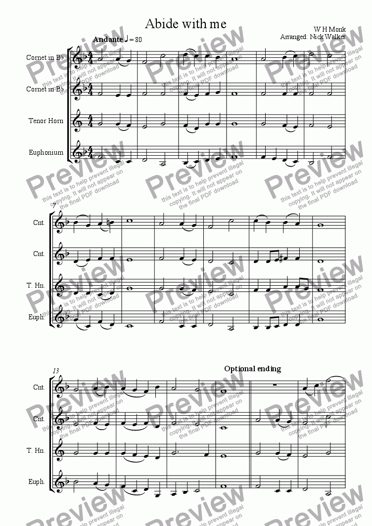 page one of Abide with me