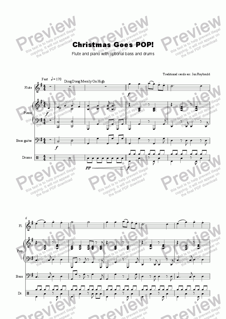 page one of Christmas Goes POP! (flute)
