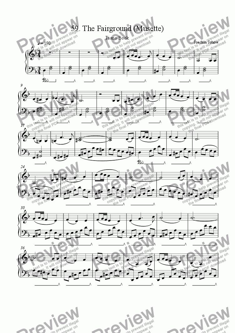 page one of Piano Book 059 (The Fairground - Musette)
