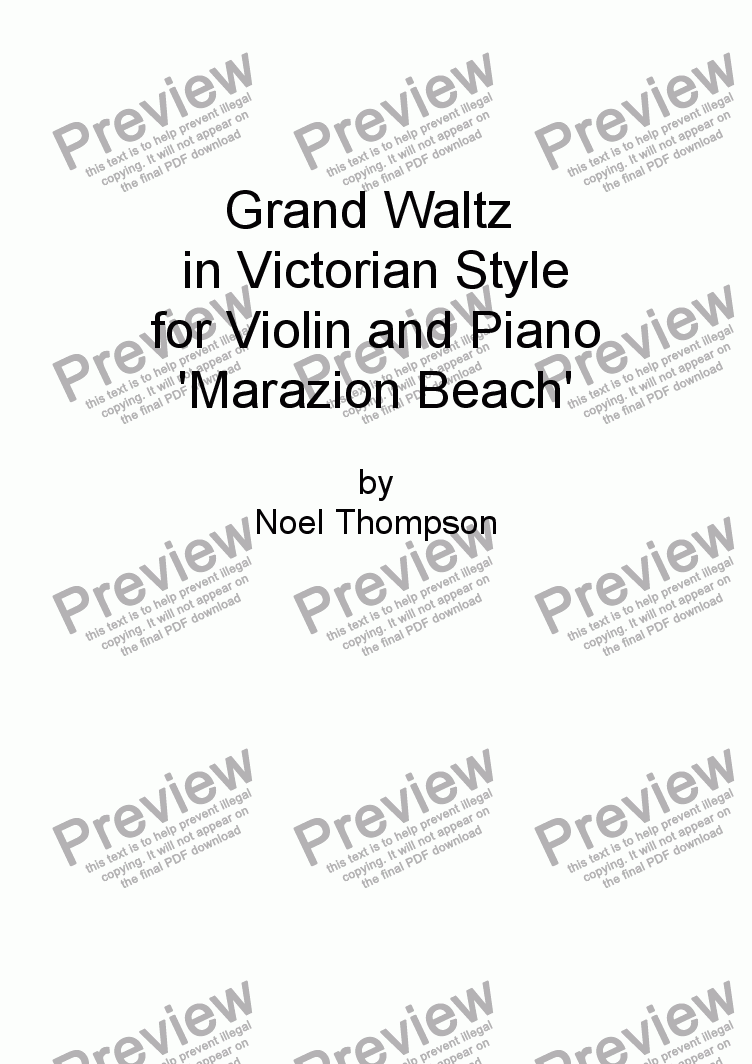 page one of Grand Waltz in Victorian Style -violin & piano, now with solo part
