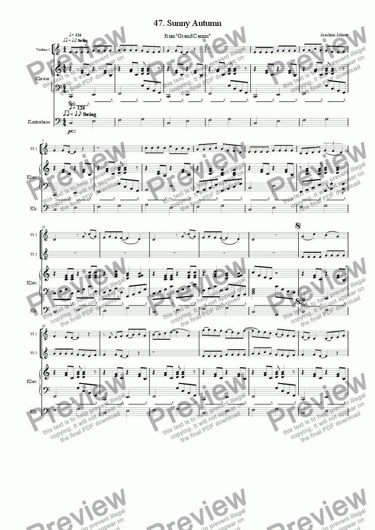 page one of Grand Canon 47 (Sunny Autumn - 3 Vl)