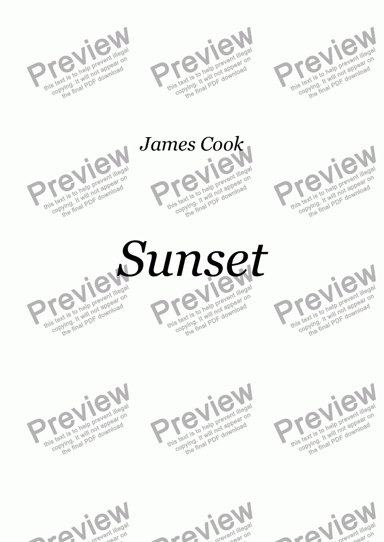 page one of Sunset