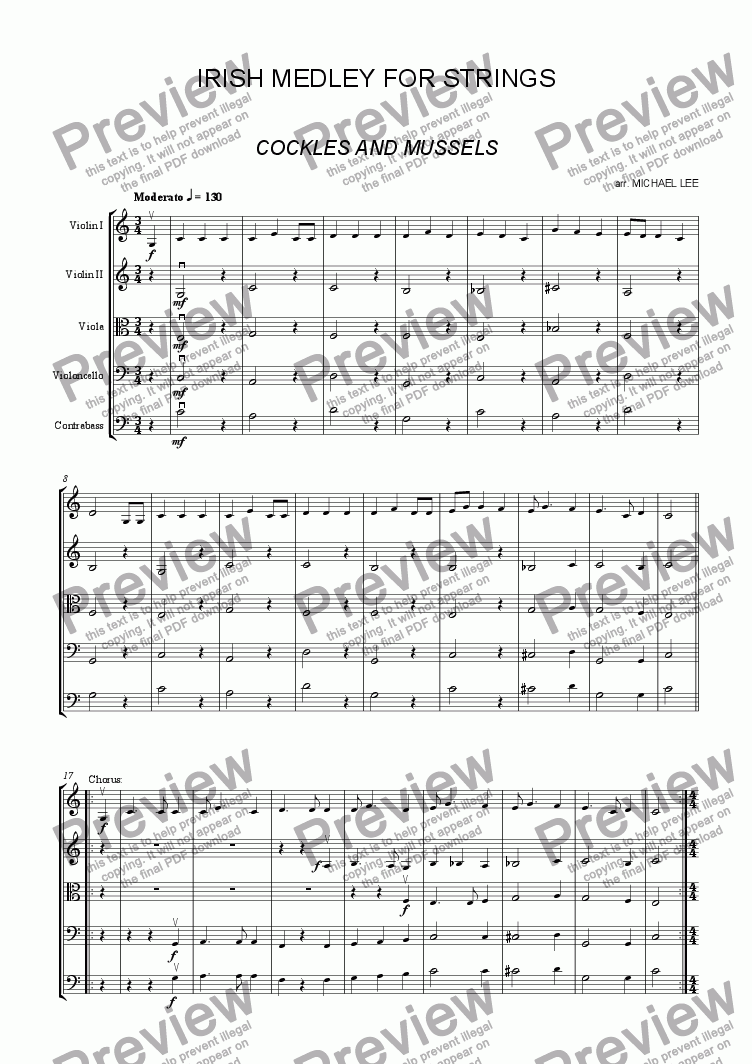 page one of Irish Medley For StringsASALTTEXT