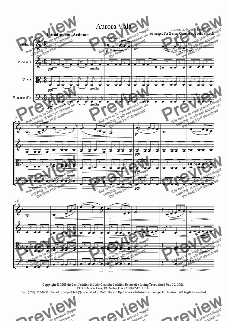 page one of Aurora Waltz