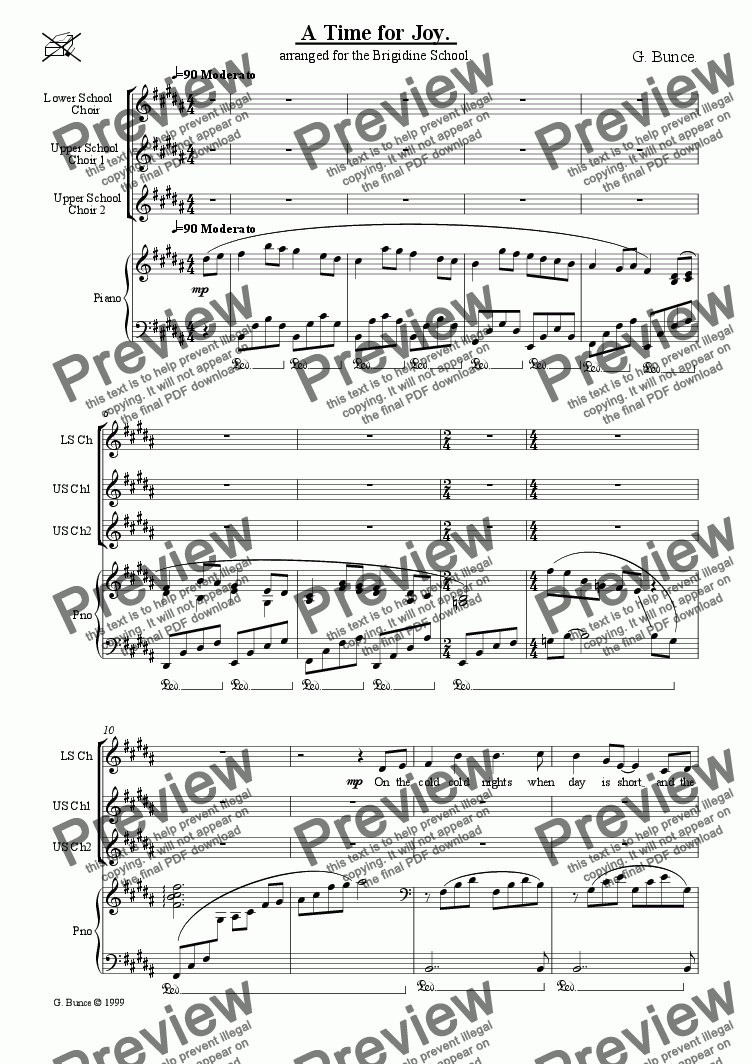 page one of A Time For Joy [Piano]ASALTTEXT