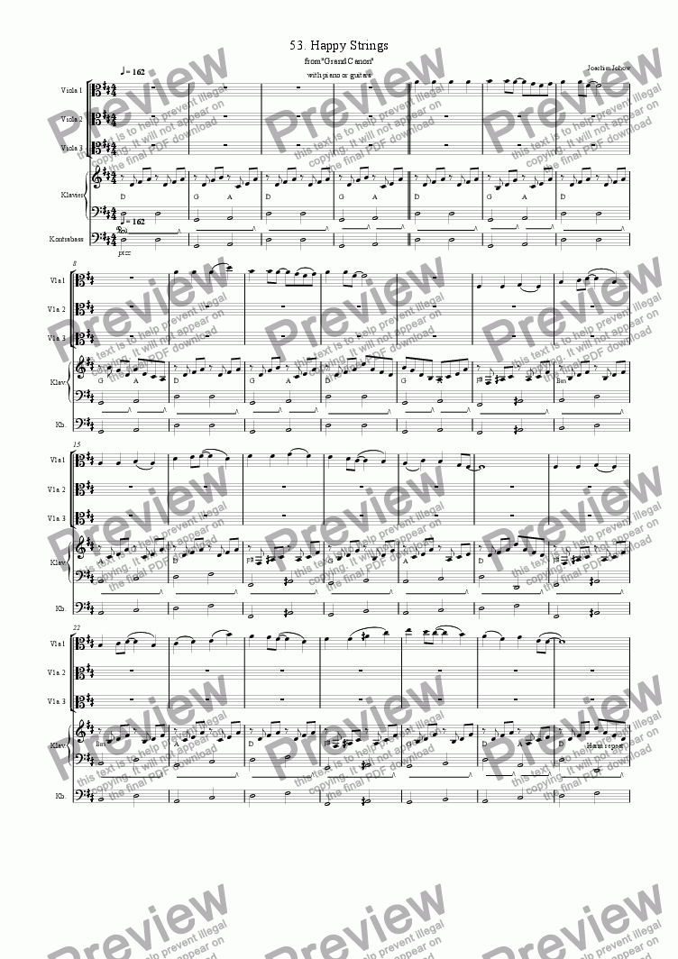 page one of Grand Canon 53 (Happy Strings - 3 Vla)
