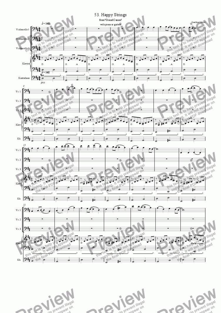 page one of Grand Canon 53 (Happy Strings - 3 Vlc)