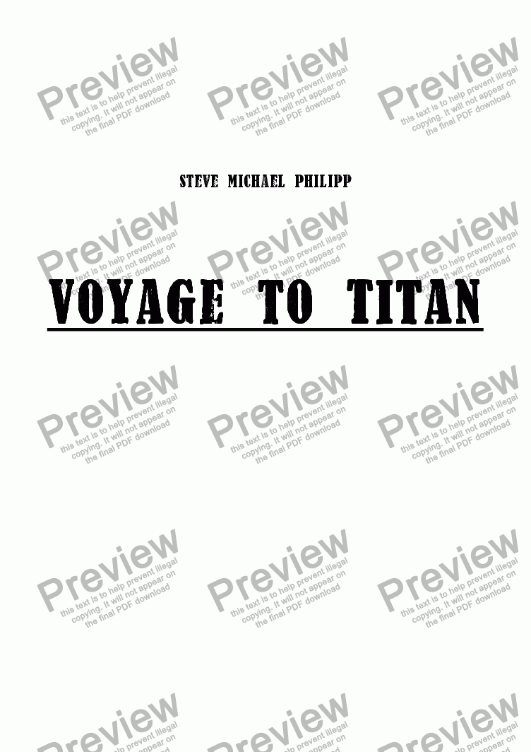 page one of Voyage to Titan