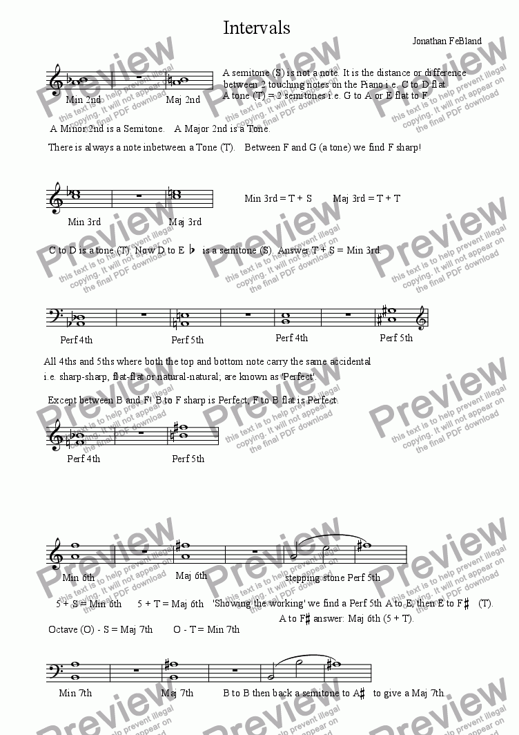 page one of Intervals