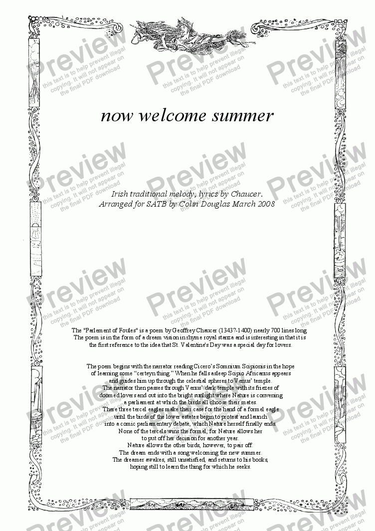 page one of Now welcome summer