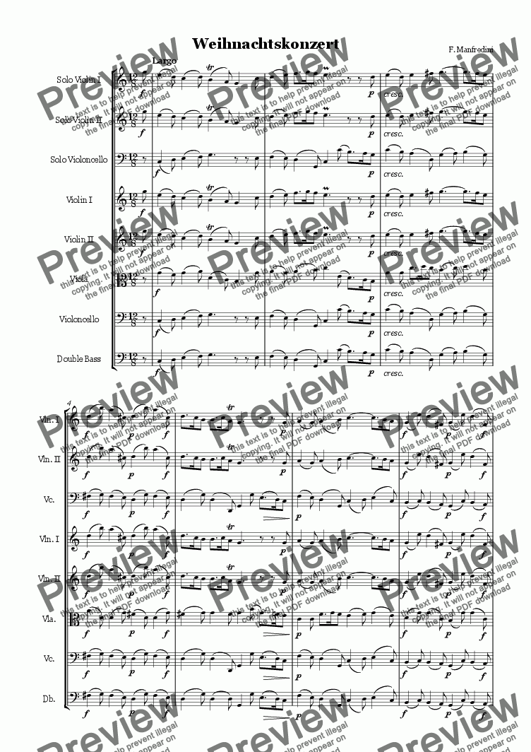 page one of Manfredini Concerto Grosso Op.3 No.12