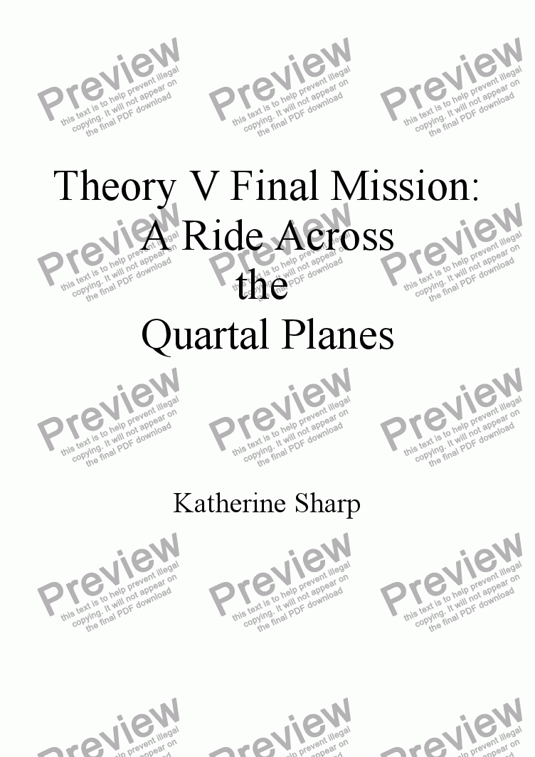 page one of A Ride Across the Quartal Planes