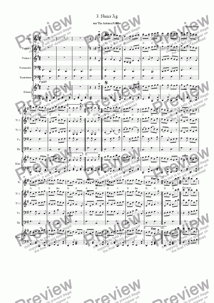 page one of Autumn Fiddler 03 (Nanis Jig)