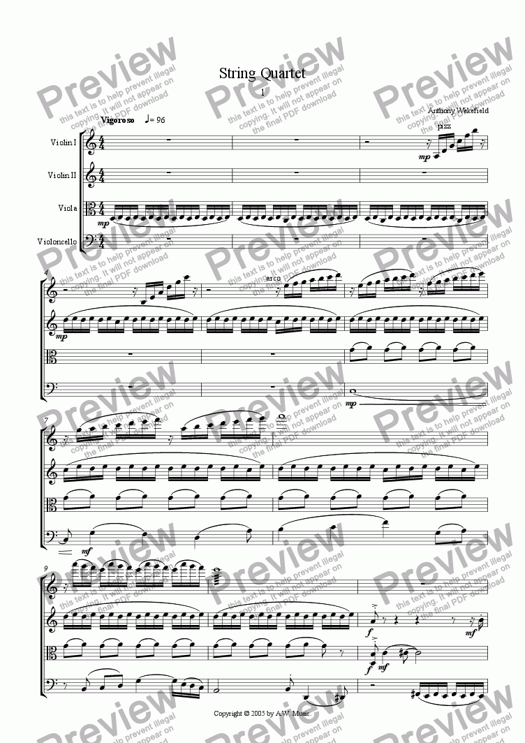 page one of String QuartetASALTTEXT