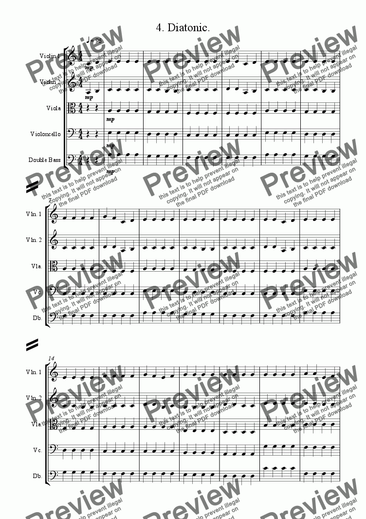 page one of Seven Day Symphony  - 4. Thursday - Diatonic.