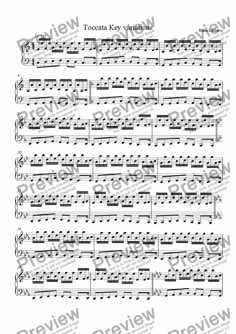 page one of Exercises  for any instrument