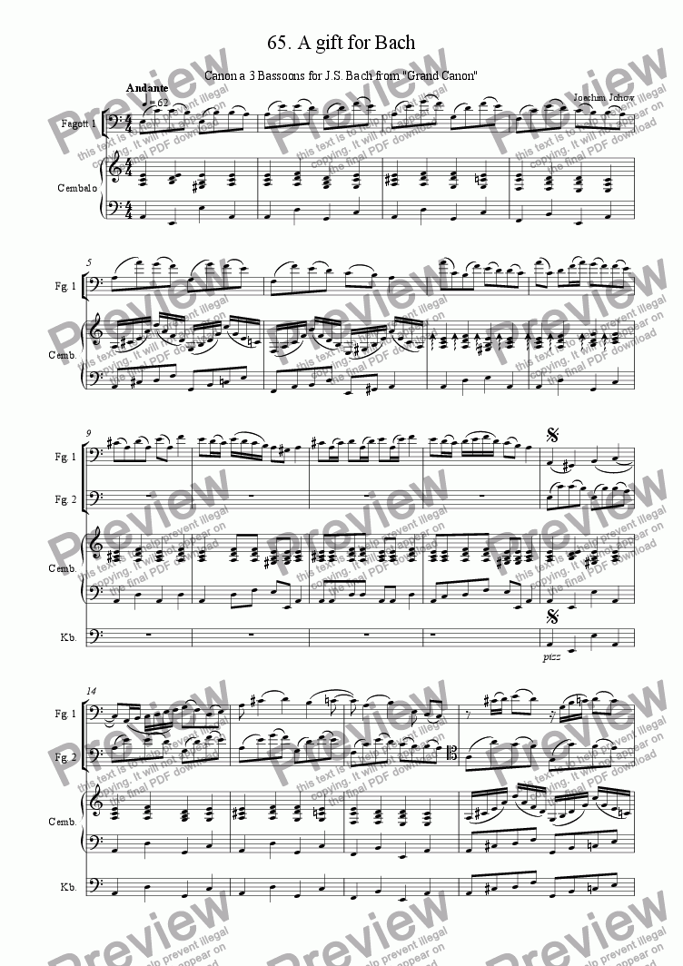 page one of Grand Canon 65 (A gift for Bach - 3 Bassoons)