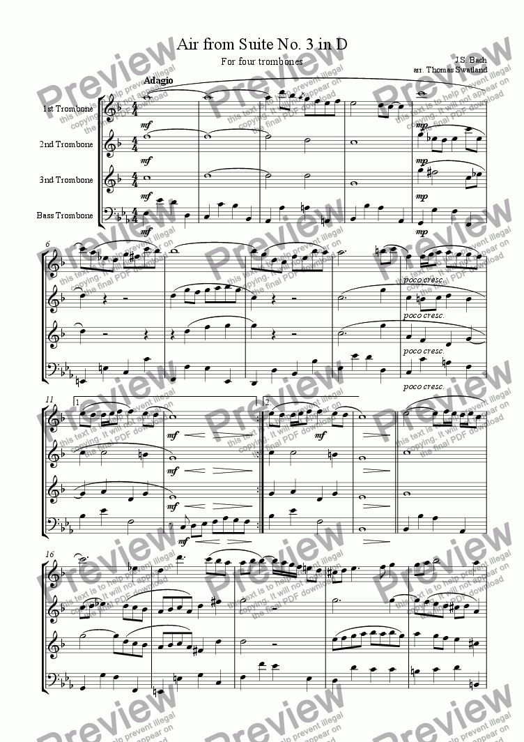page one of Air from Suite No. 1 in D
