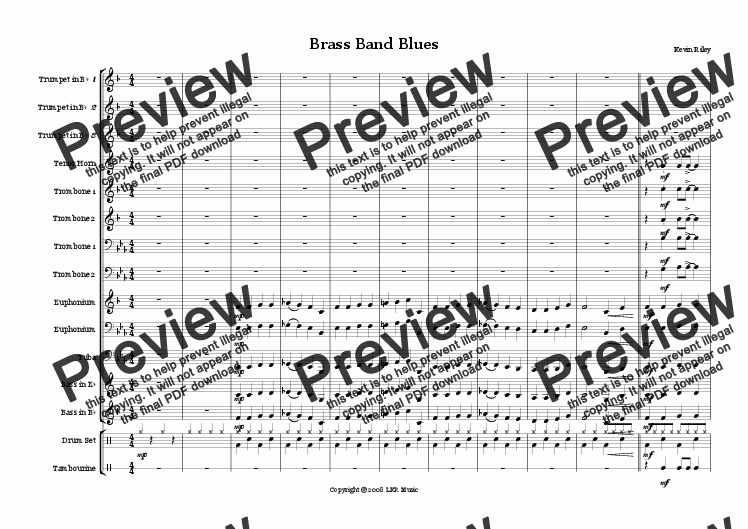 page one of Brass Band Blues