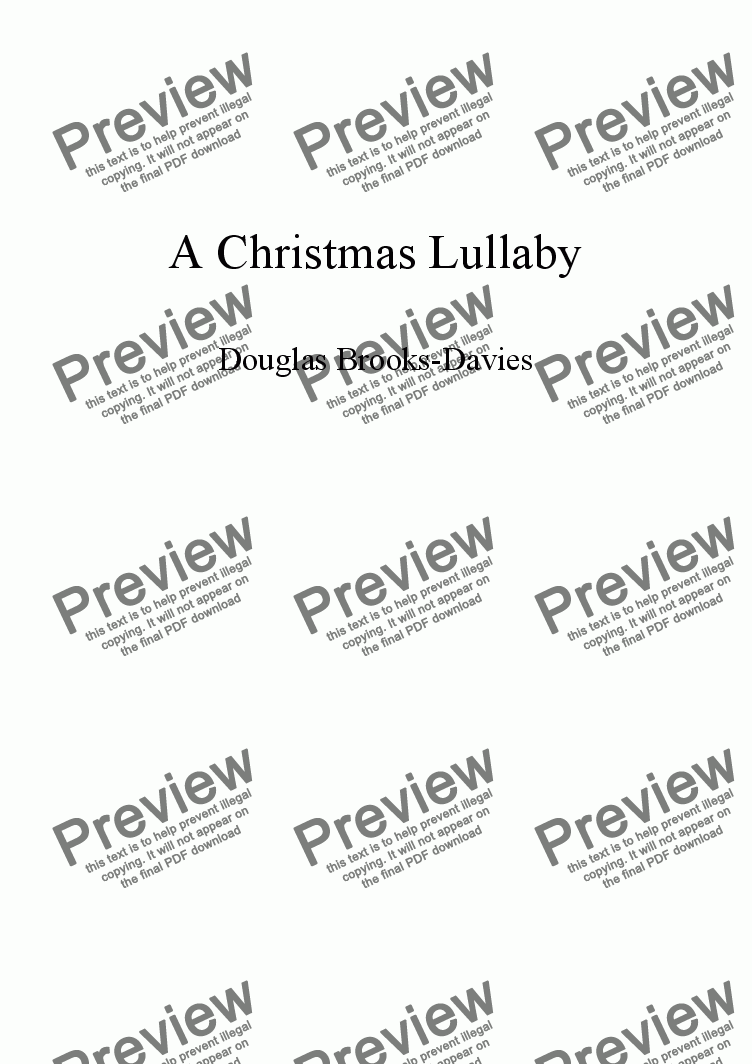 page one of Brooks-Davies: Christmas Lullaby (SSATB a cappella)
