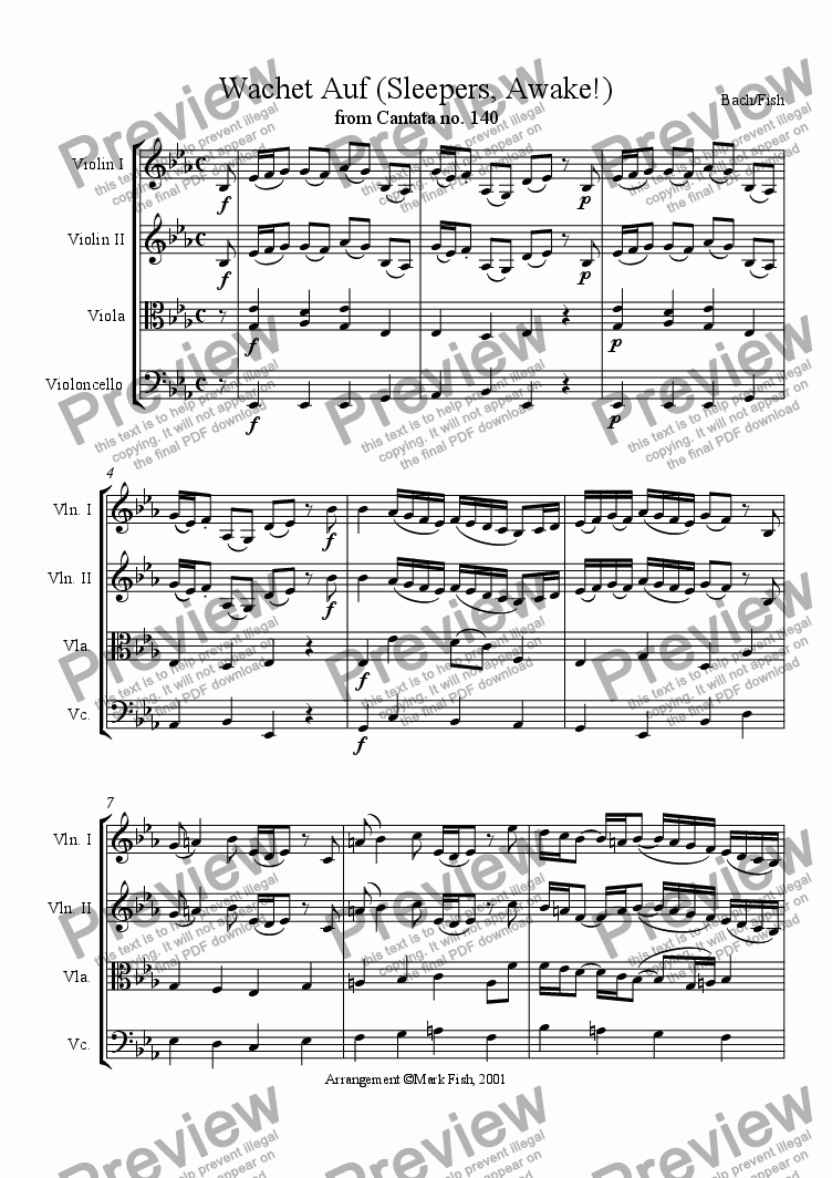 page one of Wachet Auf, or, Sleepers Wake