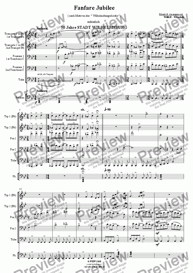 page one of Fanfare Jubil�