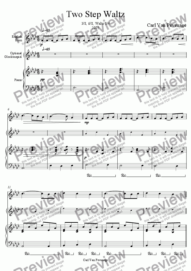 page one of Two Step Waltz