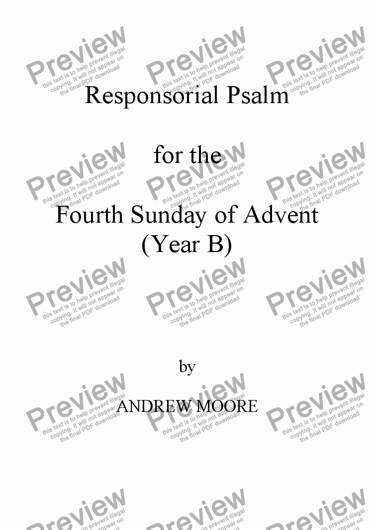 page one of Fourth Sunday of Advent (Year B)