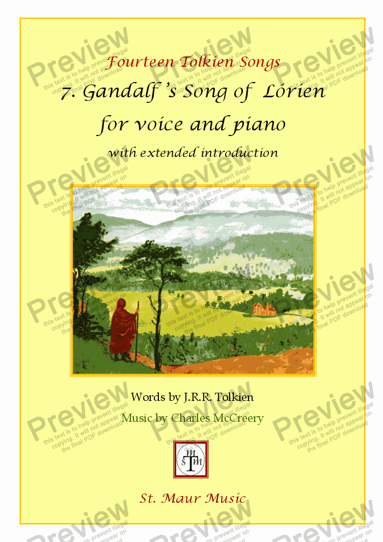 page one of Gandalf's Song of Lorien