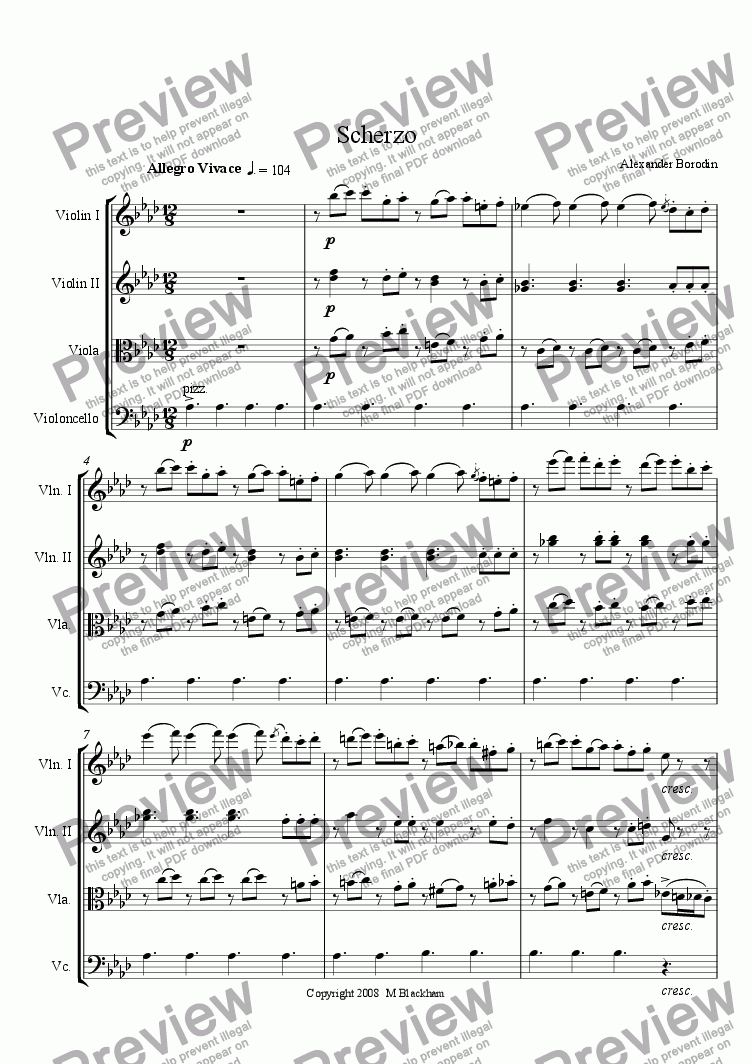 page one of Scherzo