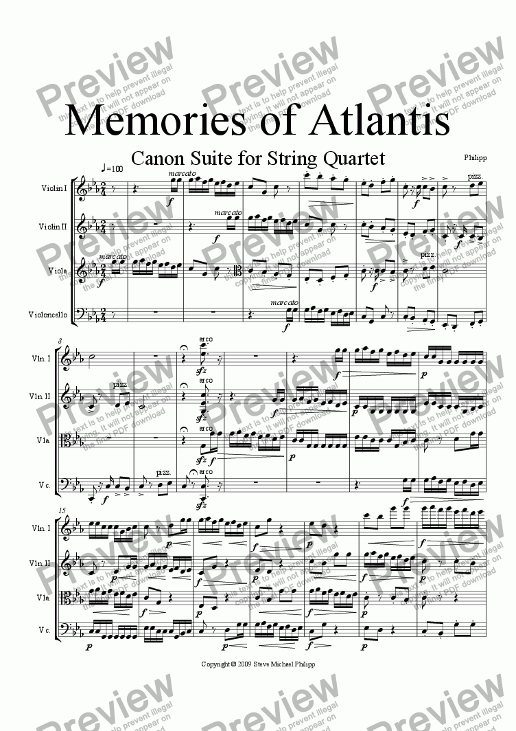 page one of Memories of Atlantis