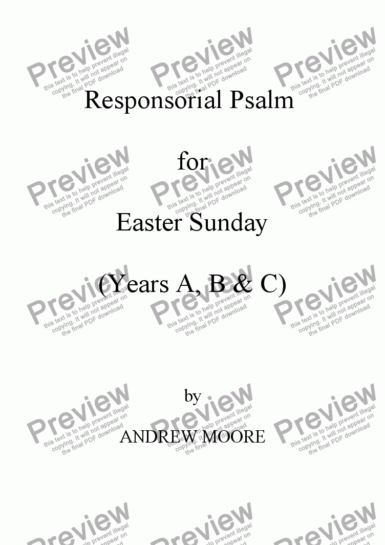 page one of Easter Sunday (Year B)