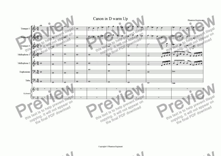 Canon In D Piano Pdf