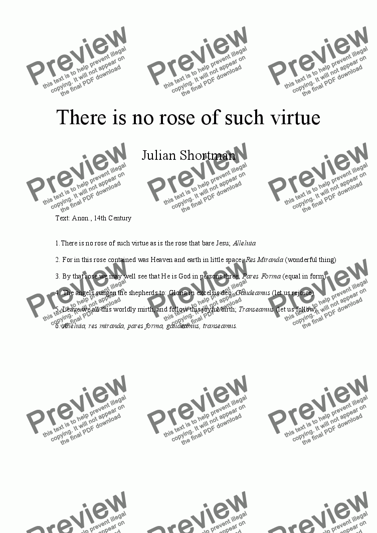 page one of There is no rose of such virtue - SATB Christmas Choral Choir (previously free)