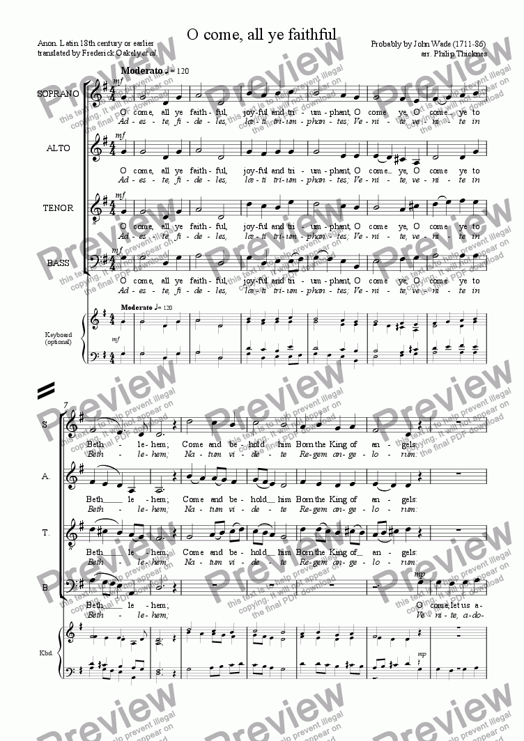 O come all ye faithful satb keyboard sheet music pdf which method of viewing music should i use hexwebz Image collections