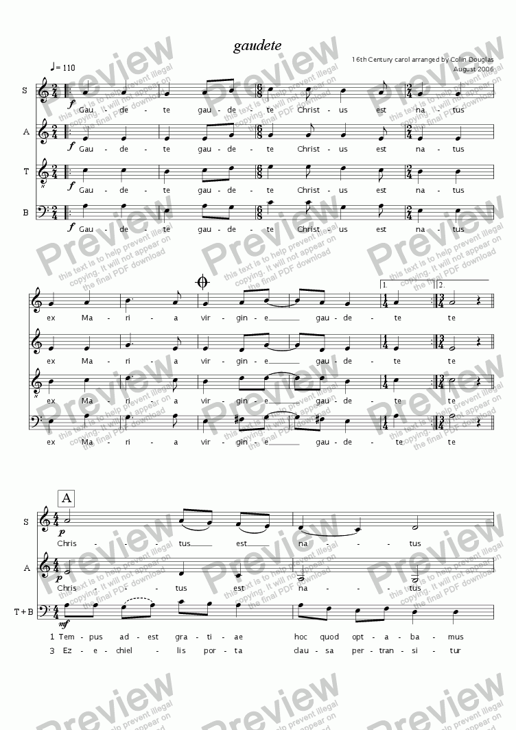 page one of Gaudete