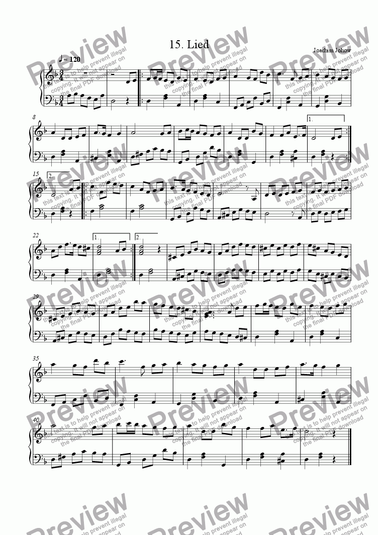 page one of New Harp Book 15 (Lied)